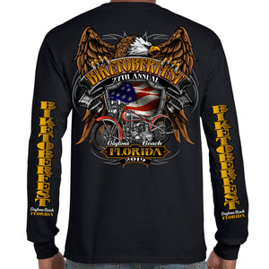 Back of 2019 Biketoberfest Rebel Rider Long Sleeve in Black