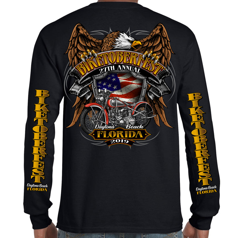 2019 Biketoberfest Daytona Beach Rebel Rider Long Sleeve T-Shirt
