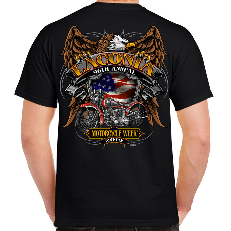 2019 Laconia Motorcycle Week Rebel Rider T-Shirt