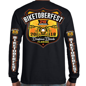 2018 Biketoberfest Daytona Beach Official Logo Long Sleeve Shirt