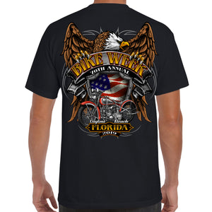2019 Bike Week Daytona Beach Rebel Rider Pocket T-Shirt