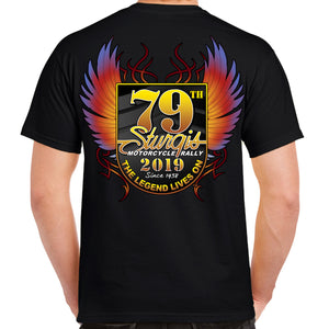 Back of 2019 Sturgis Official T-Shirt in Black