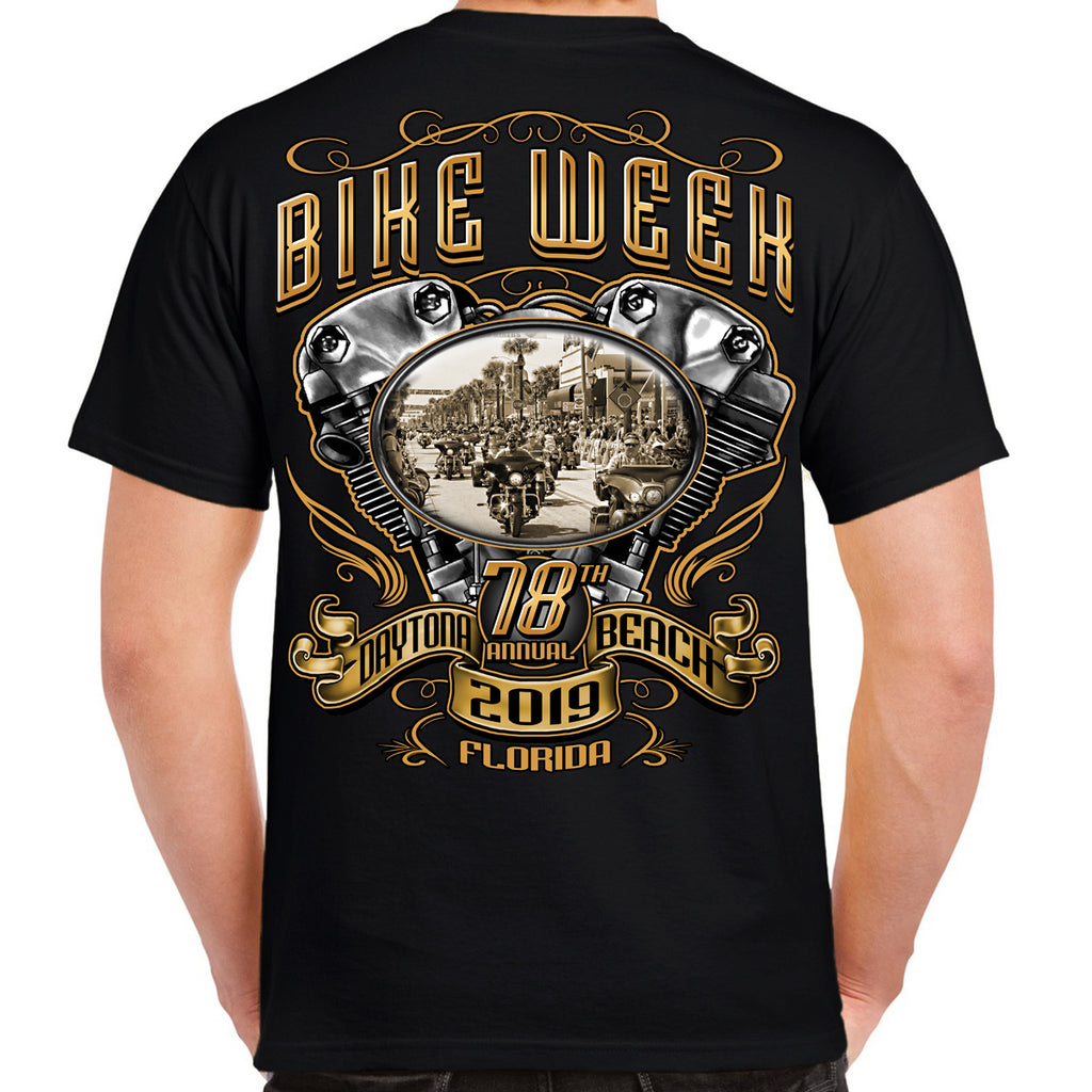 2019 Bike Week Daytona Beach Main Street Engine T-Shirt