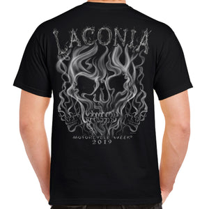 2019 Laconia Motorcycle Week Smoke Skull T-Shirt