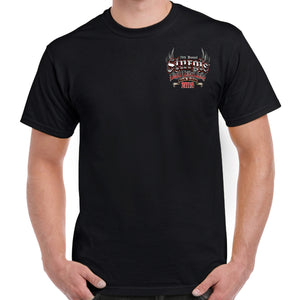 Front of 2019 Sturgis Rushmore Rider T-Shirt in Black