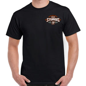 Front of 2019 Sturgis Dark Side T-Shirt in Black