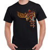 Front of 2019 Sturgis Big Wings Guns T-Shirt in Black