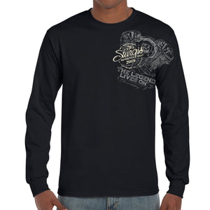 Front of 2019 Sturgis Legend Engine Long Sleeve in Black