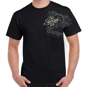 Front of 2019 Sturgis Legend Engine T-Shirt in Black