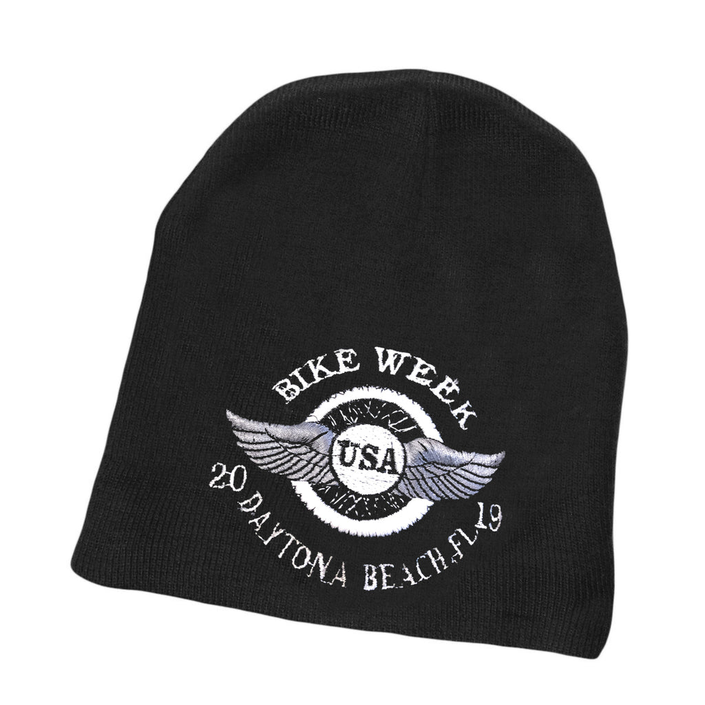 2019 Bike Week Daytona Beach Embroidered Wings Beanie
