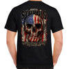 2020 Sturgis Motorcycle Rally Skull Flag T-Shirt