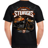 Back of 2019 Sturgis Dark Side T-Shirt in Black