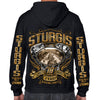 2018 Sturgis Black Hills Rally Main Street Engine Zip-Up Hoodie