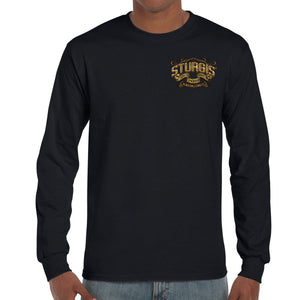 Front of 2019 Sturgis Main Street Engine Long Sleeve in Black
