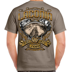 2019 Laconia Motorcycle Week Main Street Engine T-Shirt