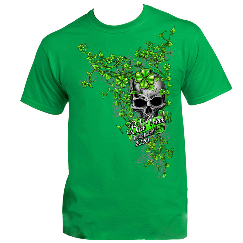 Ladies 2020 Bike Week Daytona Beach Skull Clover T-Shirt