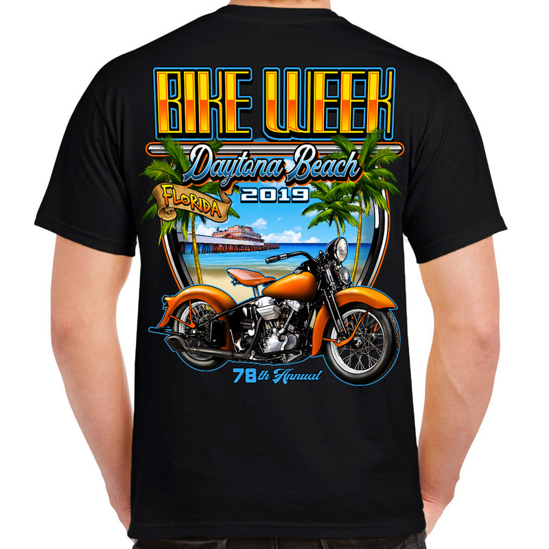 2019 Bike Week Daytona Beach Beach Shield T-Shirt