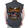 Back of 2019 Sturgis Rebel Rider Cut Off Denim in Charcoal Gray
