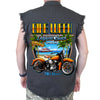 2019 Bike Week Daytona Beach Beach Shield Cut-Off Denim