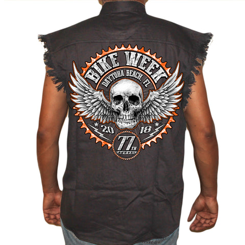 2018 Bike Week Daytona Beach Gearhead Cut-Off Denim