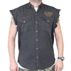 Front of 2019 Sturgis Rebel Rider Cut Off Denim in Charcoal Gray