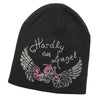 Hardly An Angel Wings Rhinestone Beanie