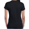 Ladies Cross Wings Rhinestones Crew Neck T-shirt
