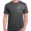 Front of 2019 Sturgis Legend Engine T-Shirt in Dark Heather Gray