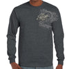 Front of 2019 Sturgis Legend Engine Long Sleeve in Dark Heather Gray