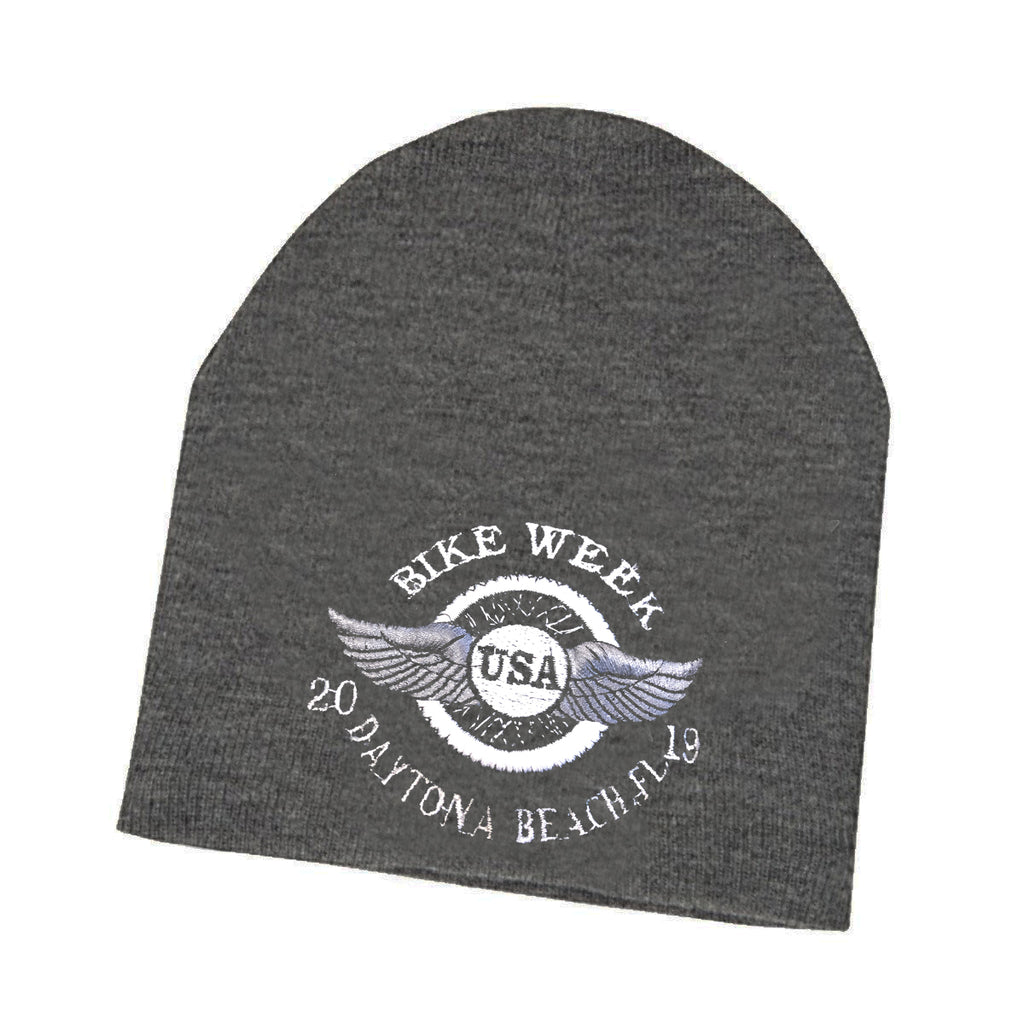 2019 Bike Week Daytona Beach Embroidered Wheel Beanie