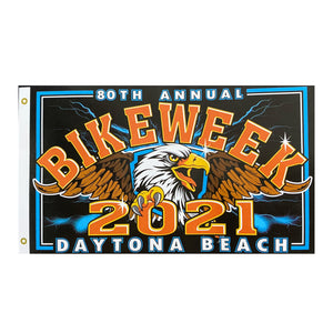 2021 Bike Week Daytona Beach 80th Anniversary Eagle Flag