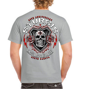 2020 Sturgis Motorcycle Rally Skull Shield T-Shirt
