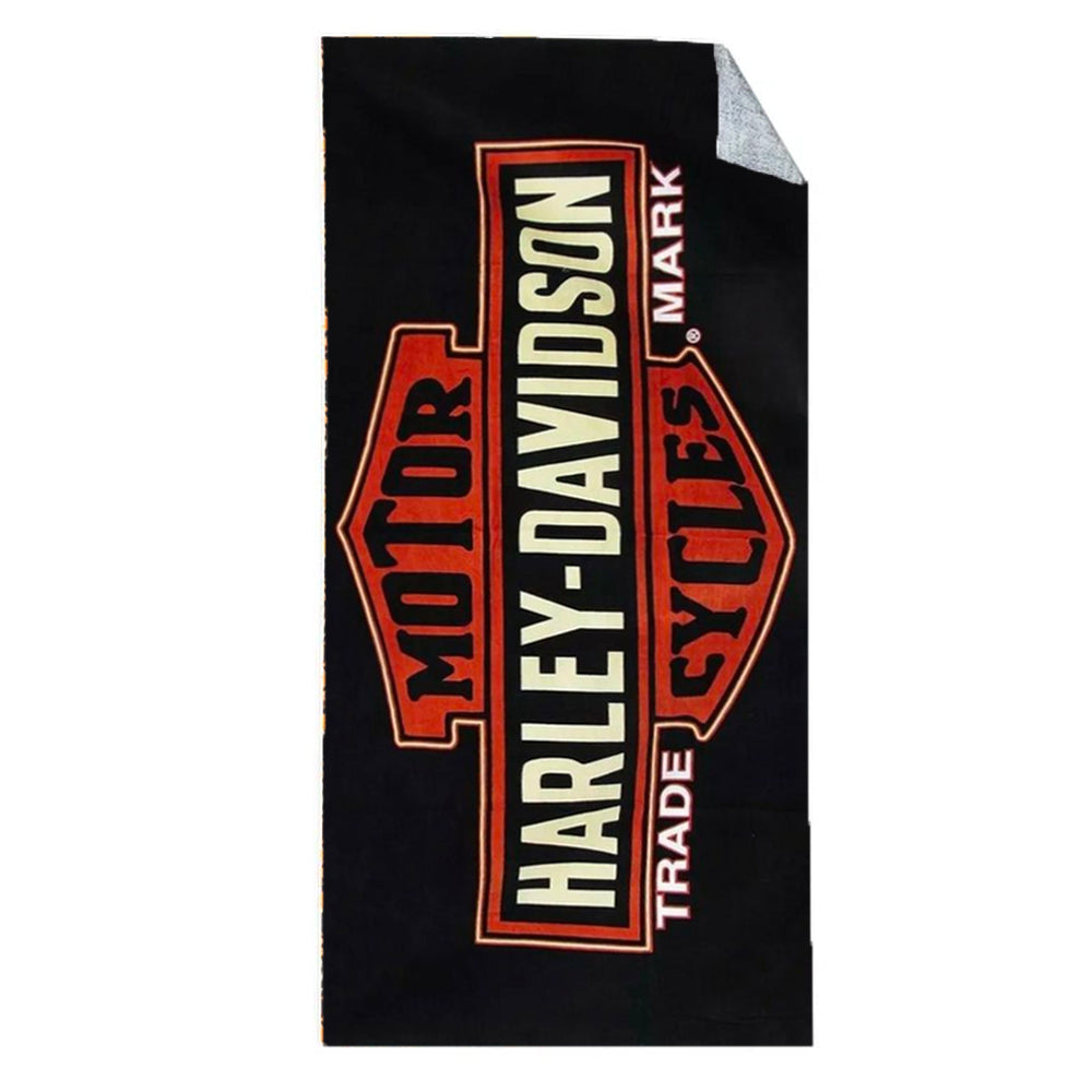 Harley Davidson Badge Stripe Beach Towel