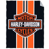 Harley Davidson Striped Emblem XL Beach Towel