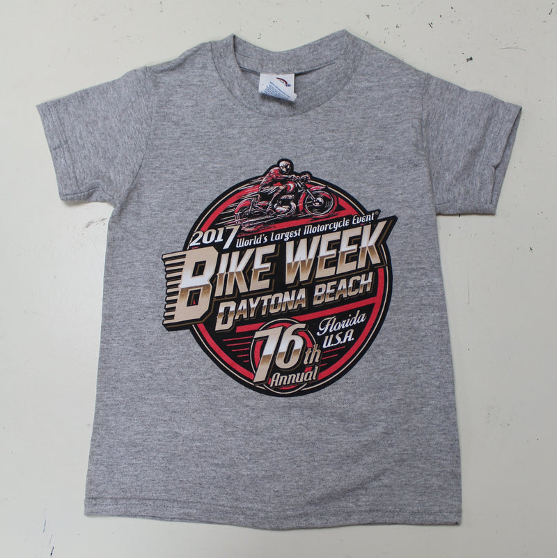 Kids 2017 Bike Week Daytona Beach Official Logo T-Shirt