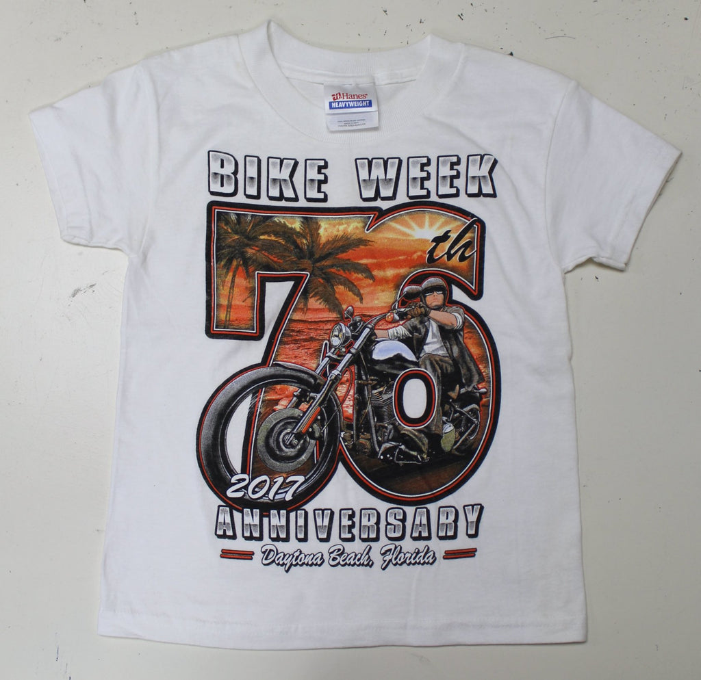 Kids 2017 Bike Week Daytona Beach Beach Biker T-Shirt