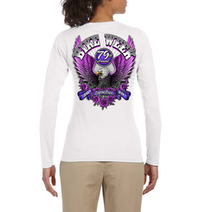 Ladies 2020 Bike Week Daytona Beach Pink Eagle Long Sleeve Shirt