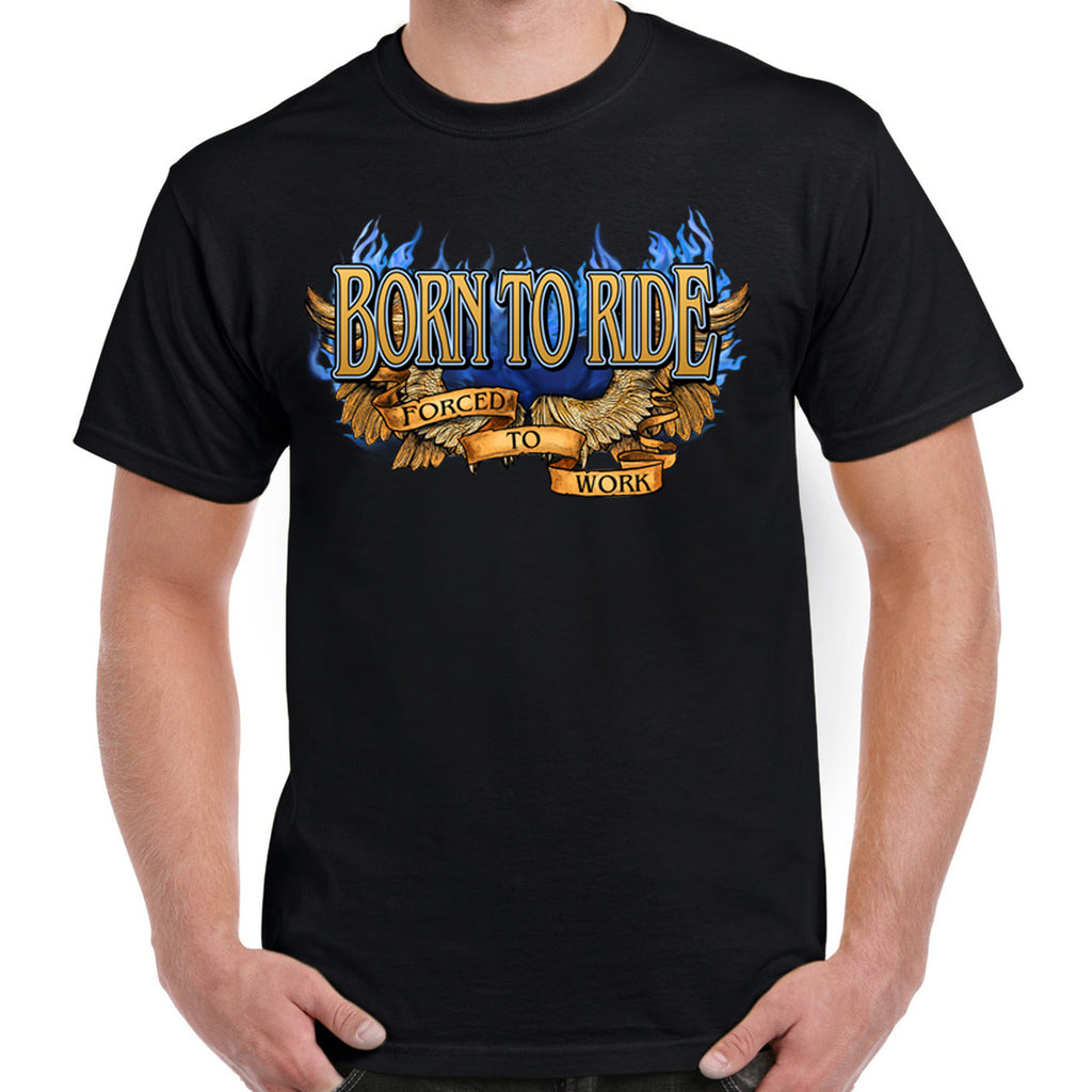 Born To Ride Skeleton Flame T-Shirt