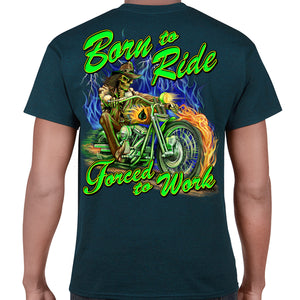 Born to Ride Forced to Work Rider T-Shirt