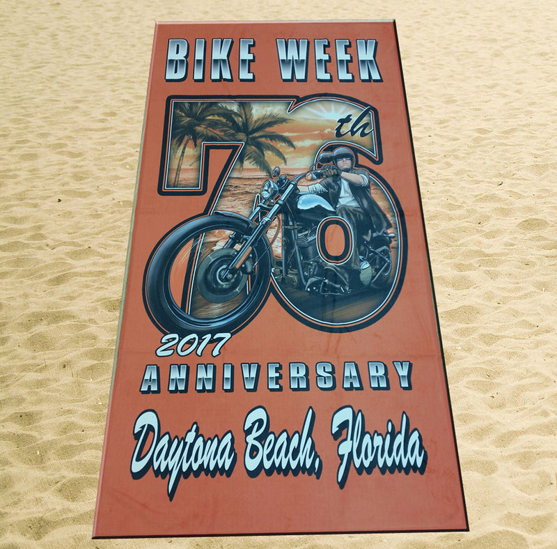 2017 Bike Week Daytona Beach 76th Scene Beach Towel