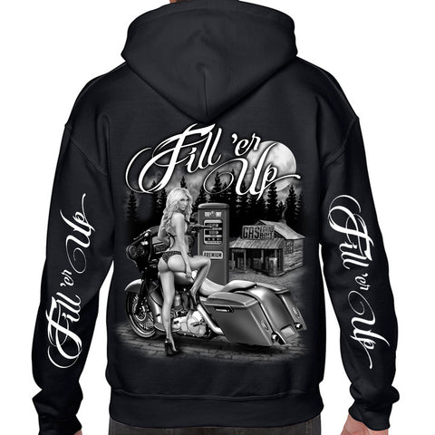 Men's Fill 'er Up Zip Up Hoodie
