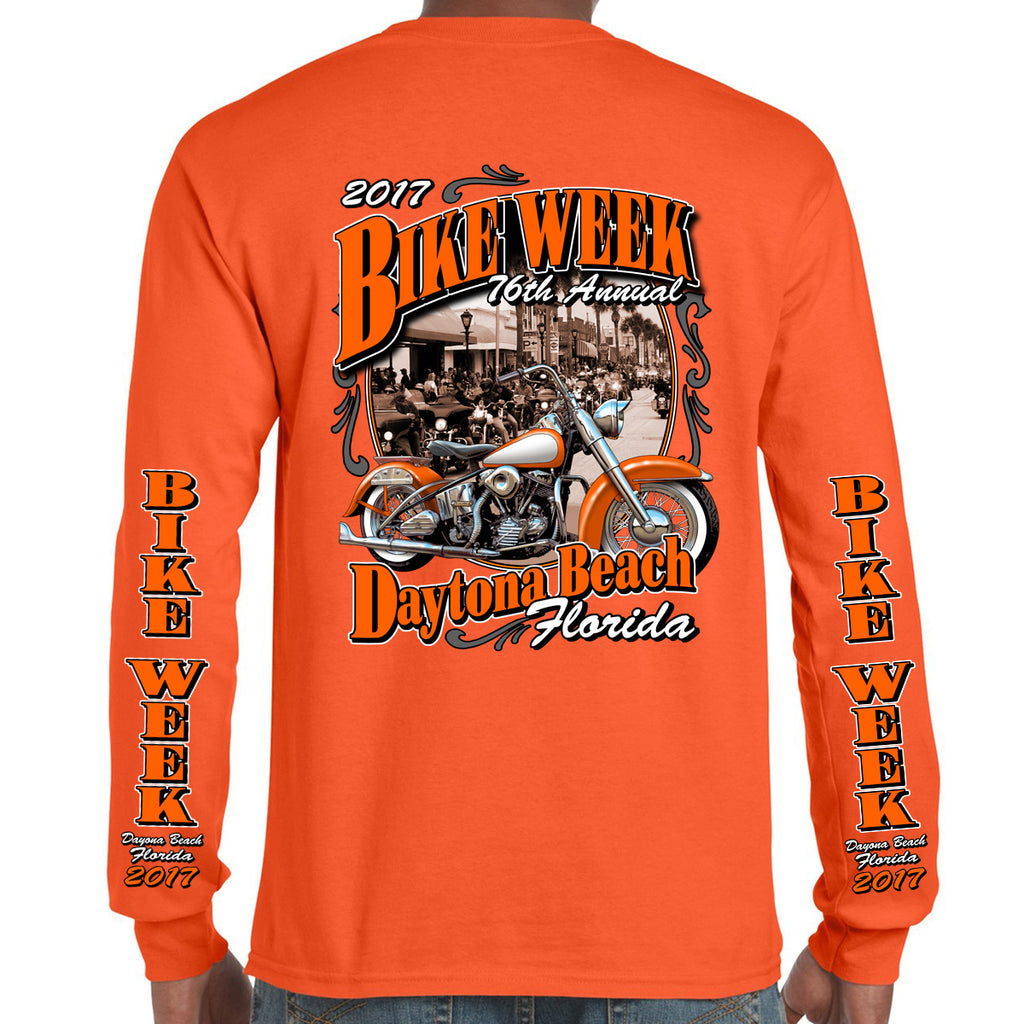 2017 Bike Week Daytona Beach Vintage Classic Long Sleeve Shirt