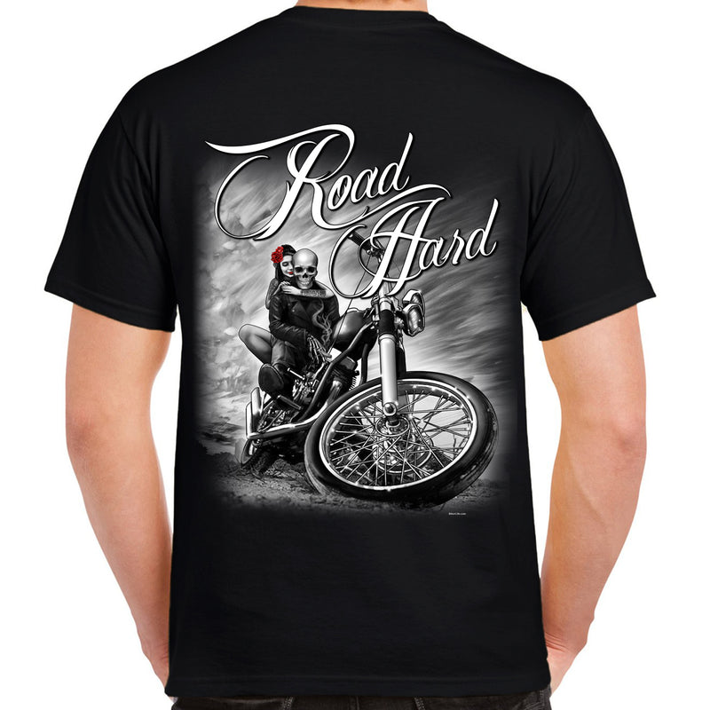 Road Hard Skull T-Shirt