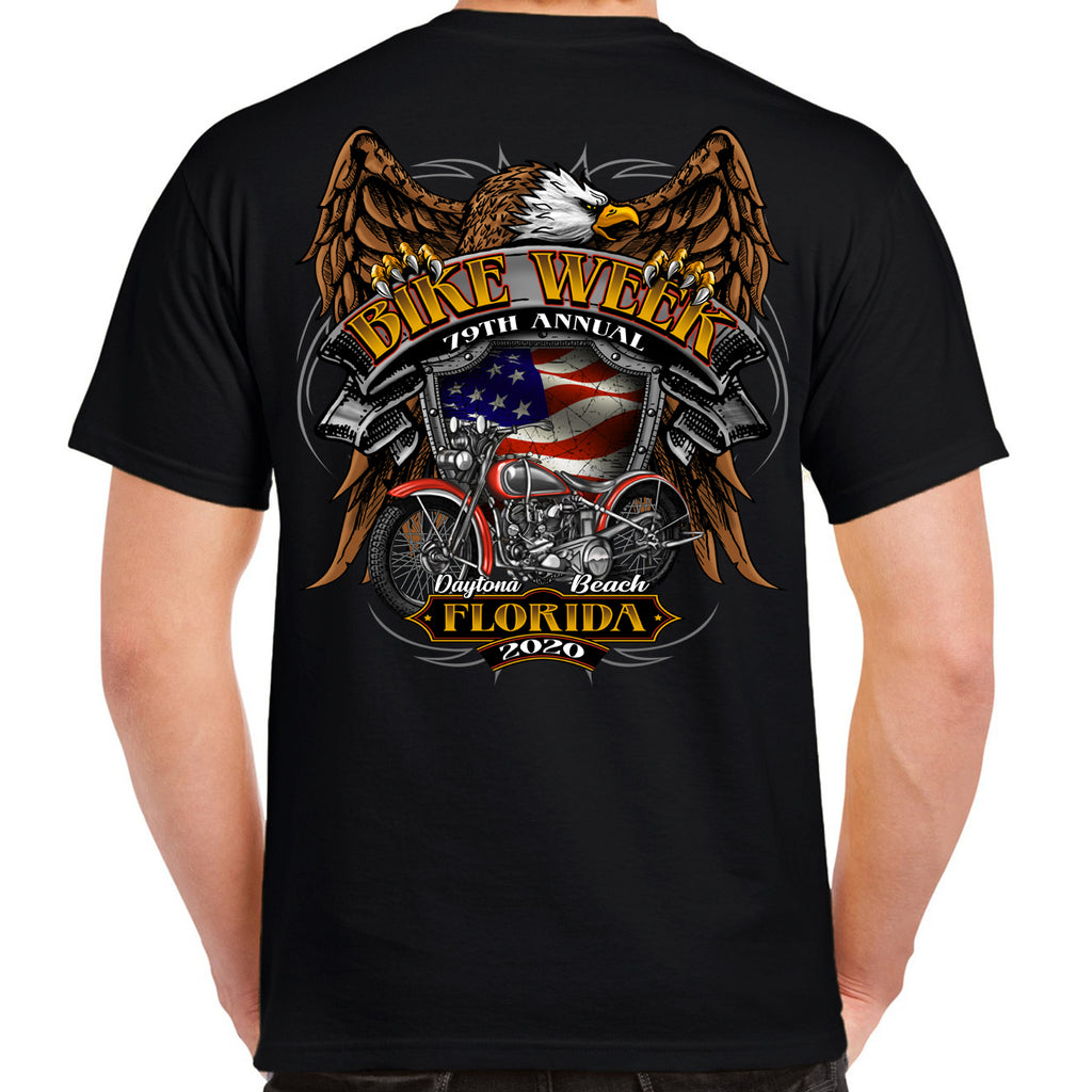 2020 Bike Week Daytona Beach Rebel Rider T-Shirt