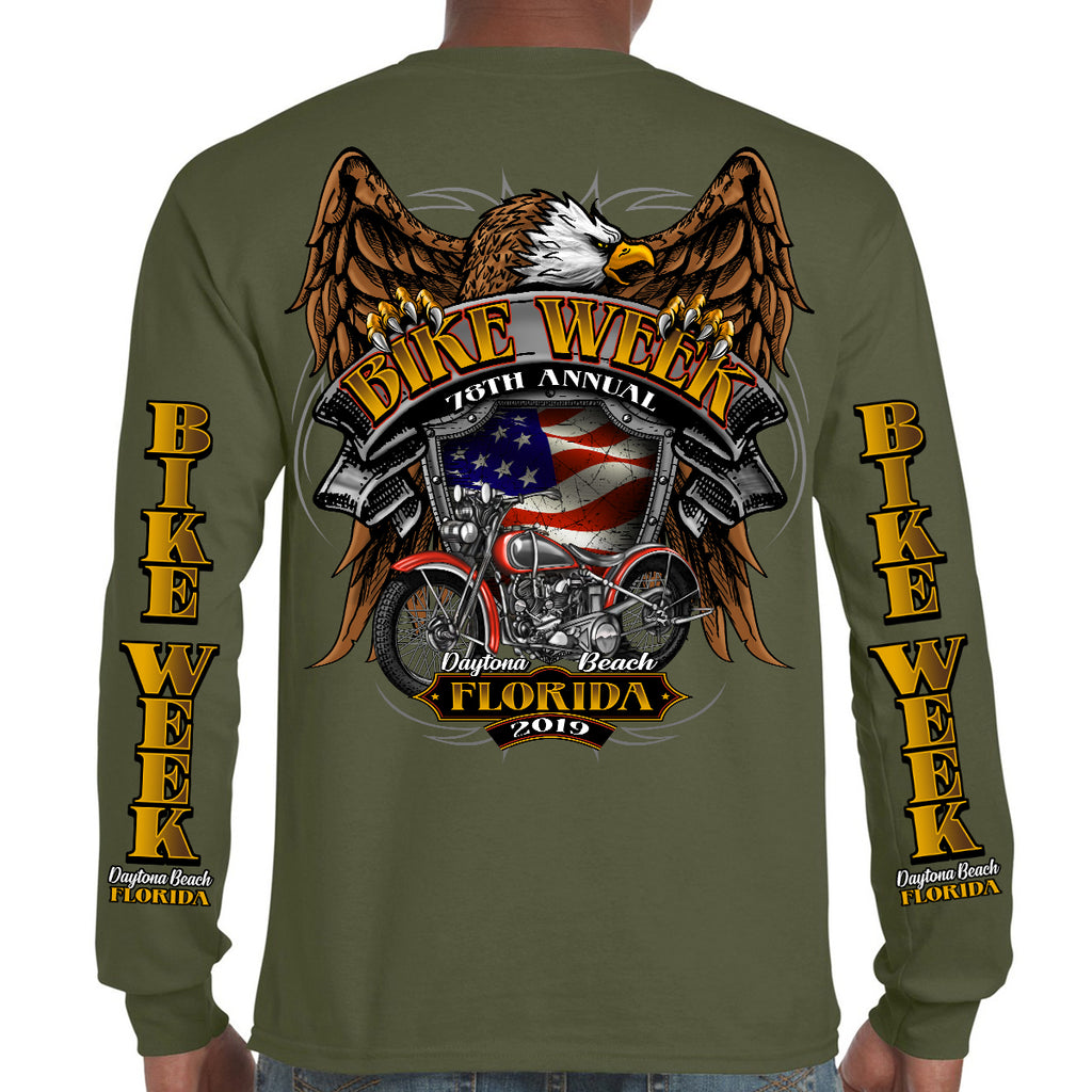2019 Bike Week Daytona Beach Rebel Rider Long Sleeve Shirt