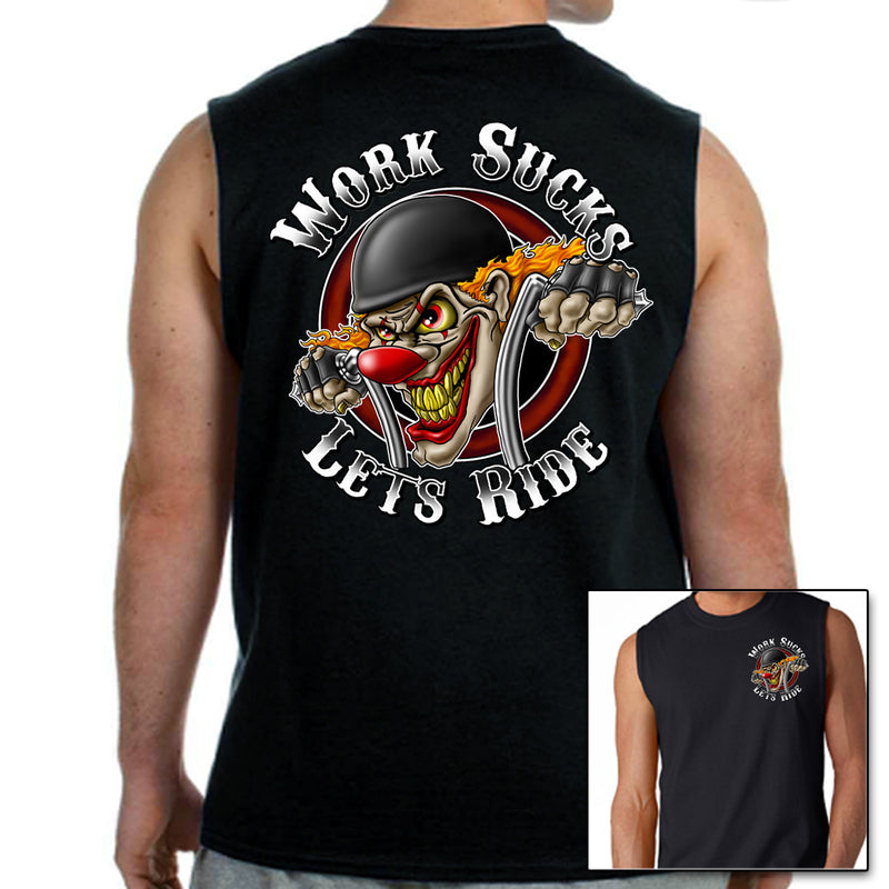 Work Sucks Clown Muscle Shirt