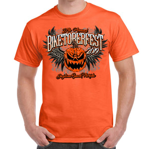 2019 Biketoberfest Pumpkin Halloween T-Shirt Orange Front