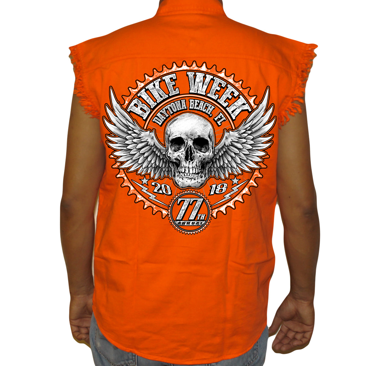 866685dad1 2018 Bike Week Daytona Beach Gearhead Cut-Off Denim – Biker Life ...