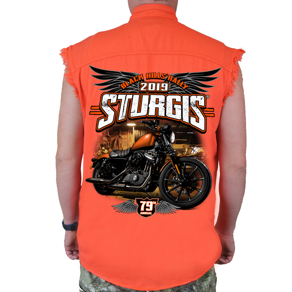 2019 Sturgis Black Hill Rally Dark Side Cut-Off Denim