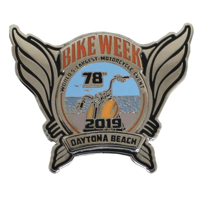 2019 Bike Week Daytona Beach Official Logo Pin